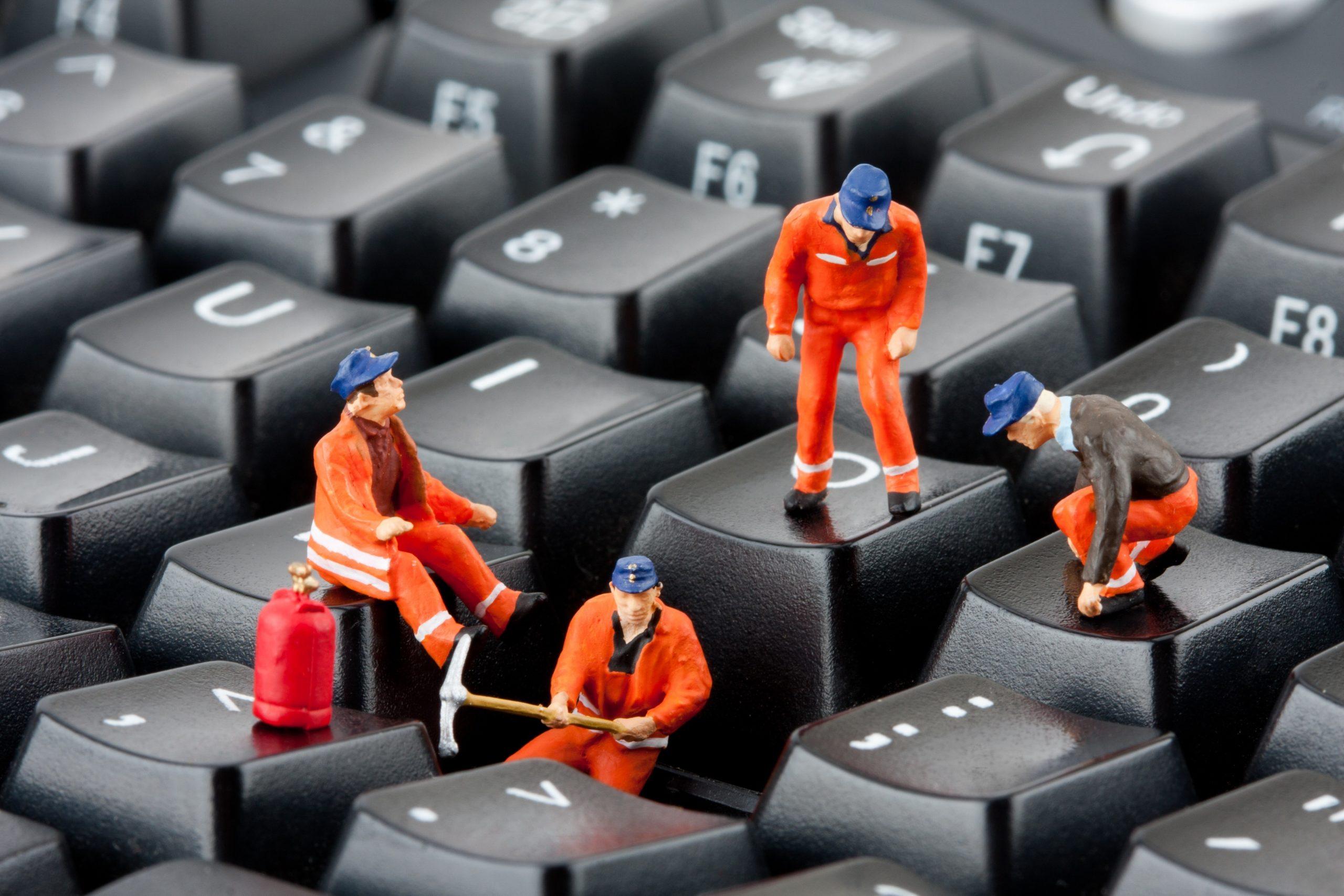 Es importante tener el teclado aseado
