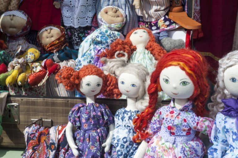 La mayoría de las muñecas reflejan mucha ternura y simpatía.