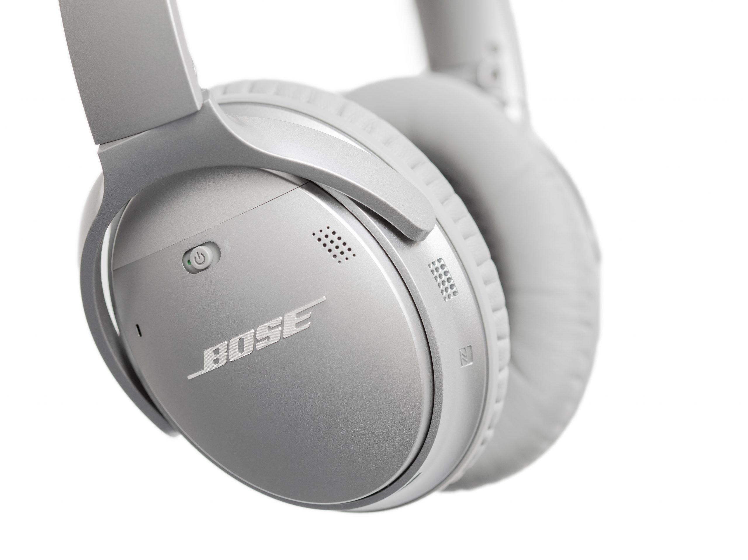wireless headphones isolated on white.