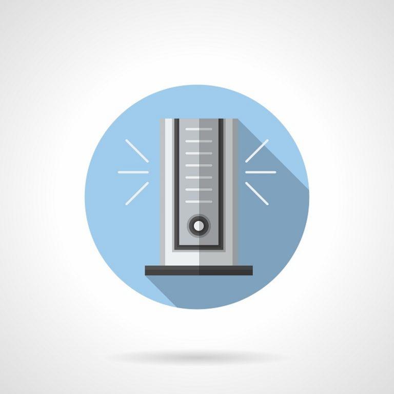 Lo ideal es que los ventiladores de torre midan de 100 a 150 cm.