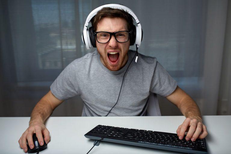 Gamer screaming