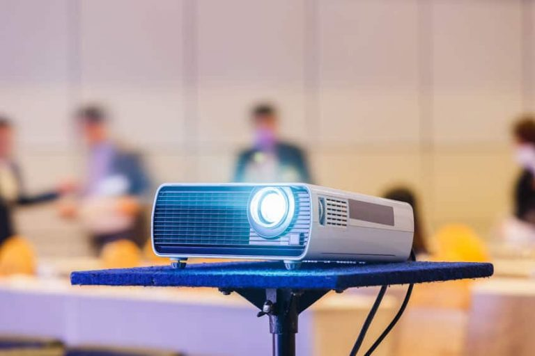 projector in a classroom