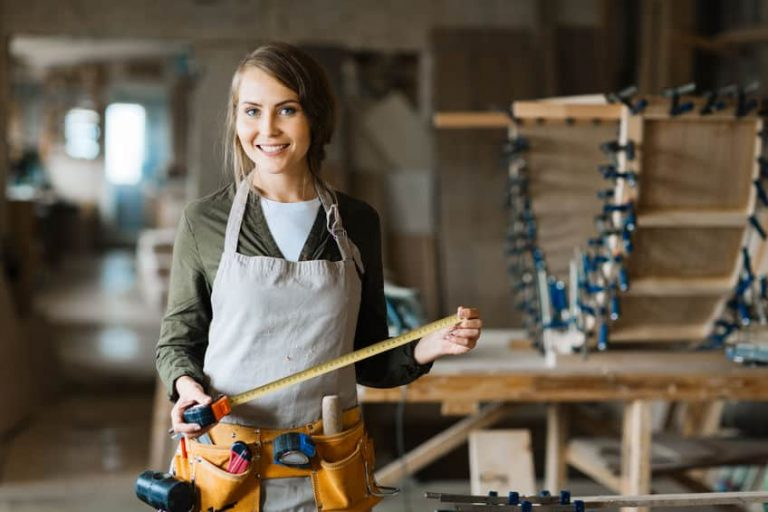 girl with tools