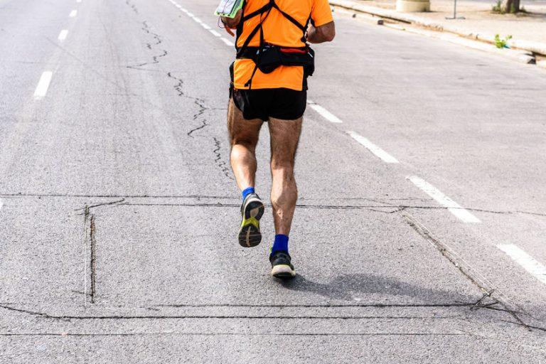 runner in the street
