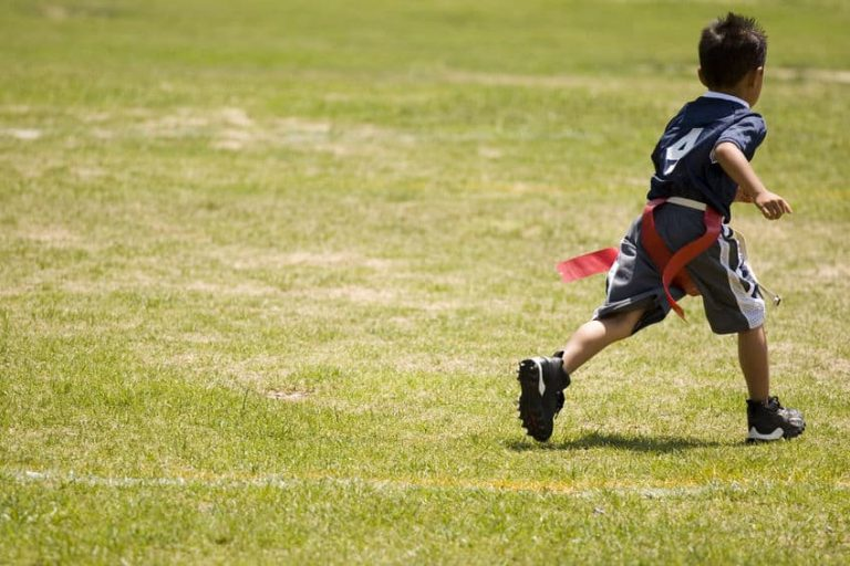 little kid running