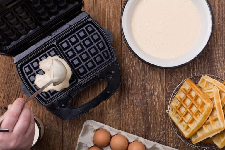 waffle maker in the kitchen