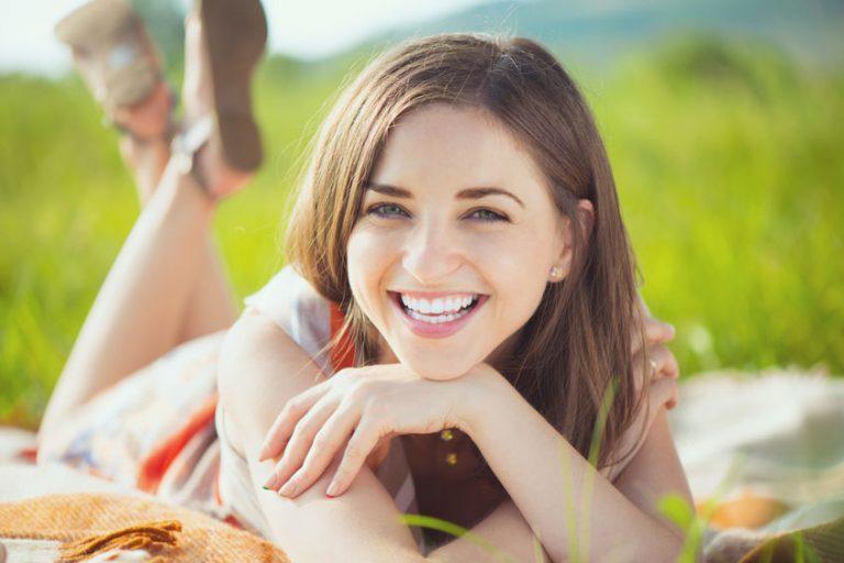 girl in open field