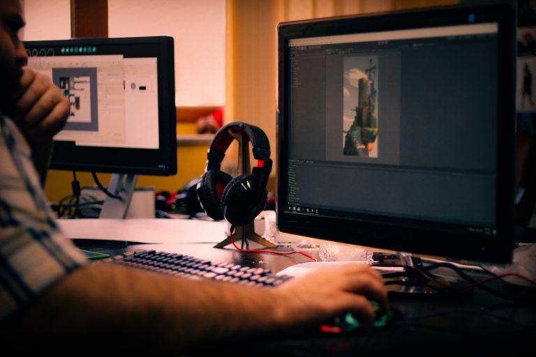 graphic designer on computer