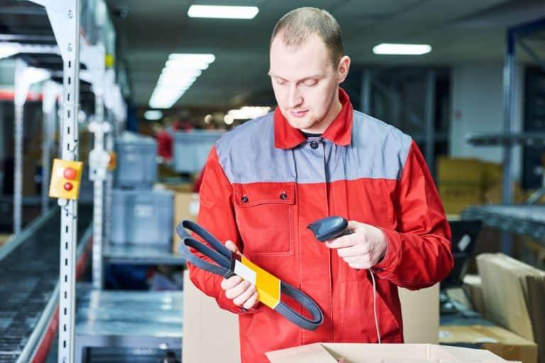 Man scanning a codebar