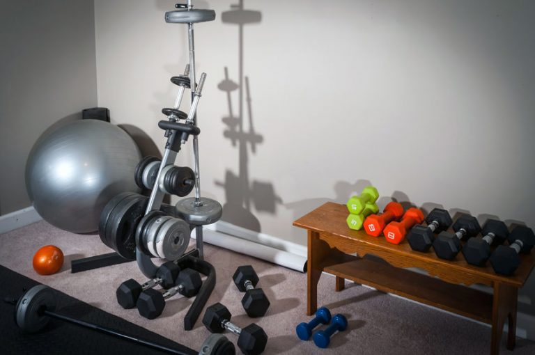 Home Gym Workout Area