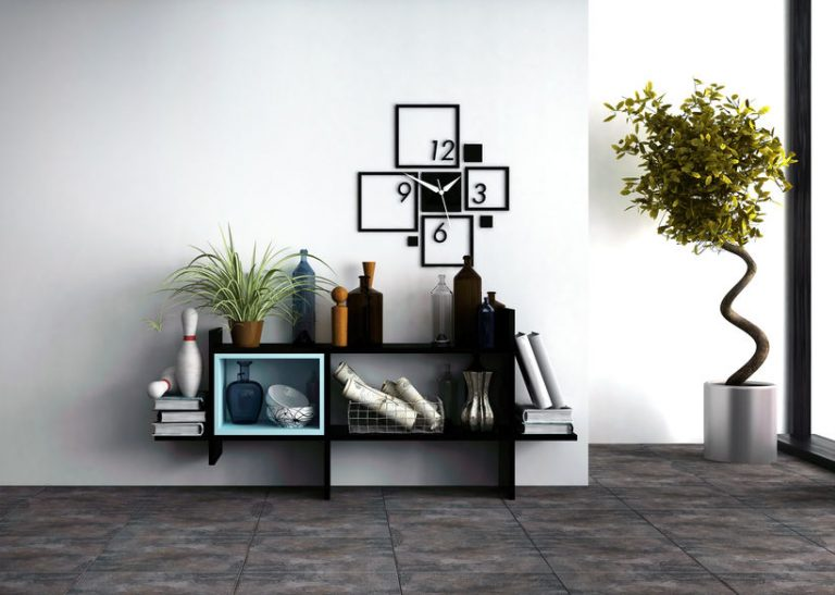 Wall-mounted shelves with personal effects