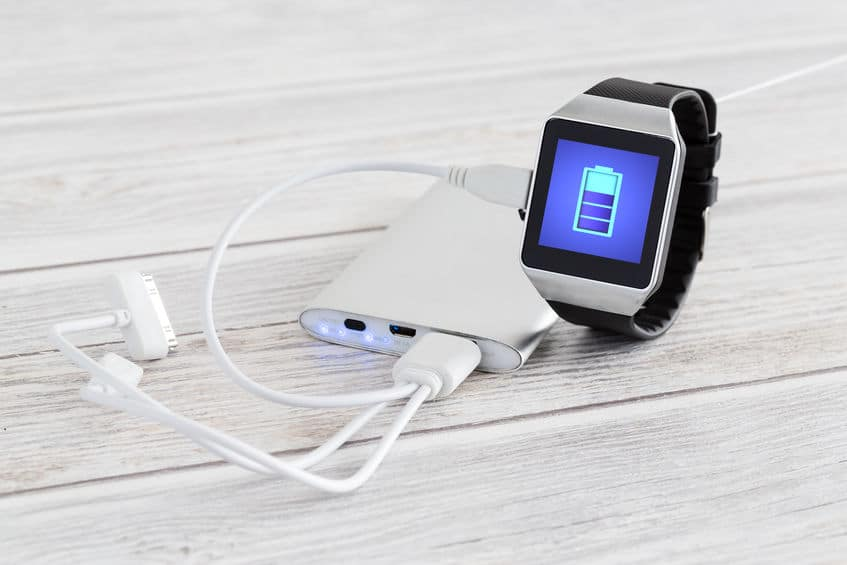 Charging of smart watch.