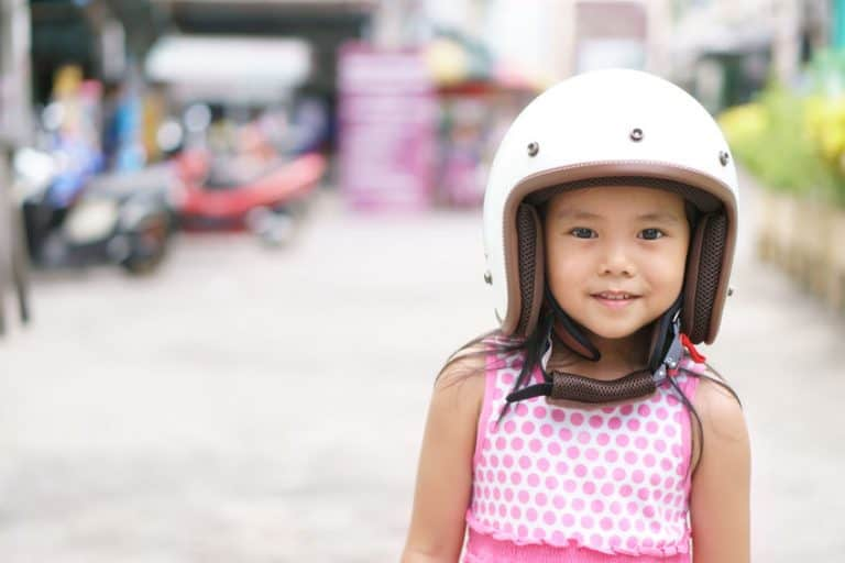 girl with a helmet
