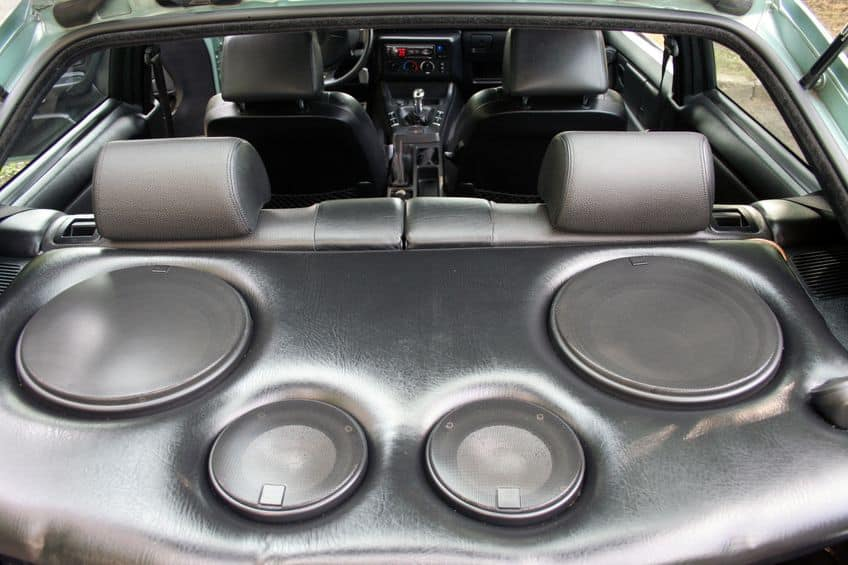 speakers in the car