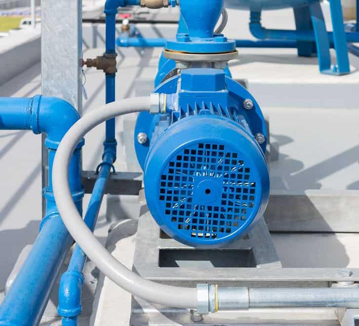 blue water pump station