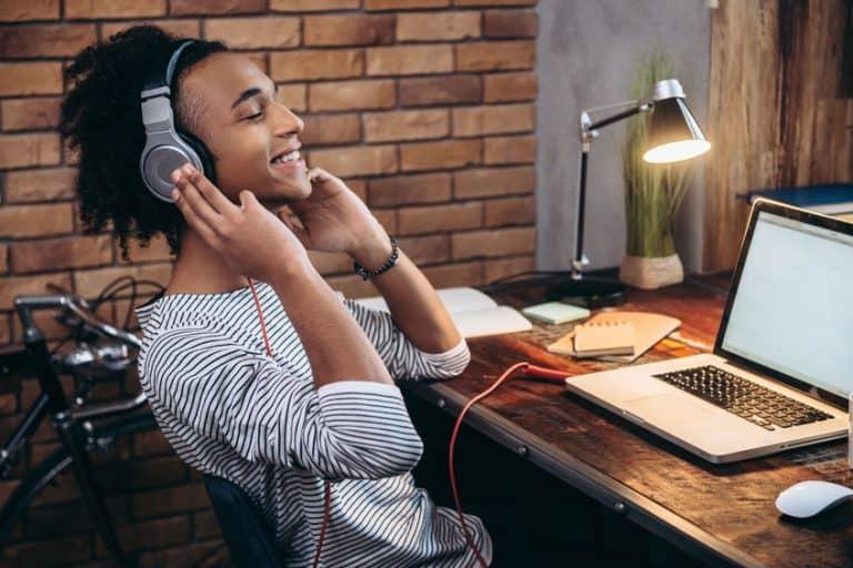 guy listen music