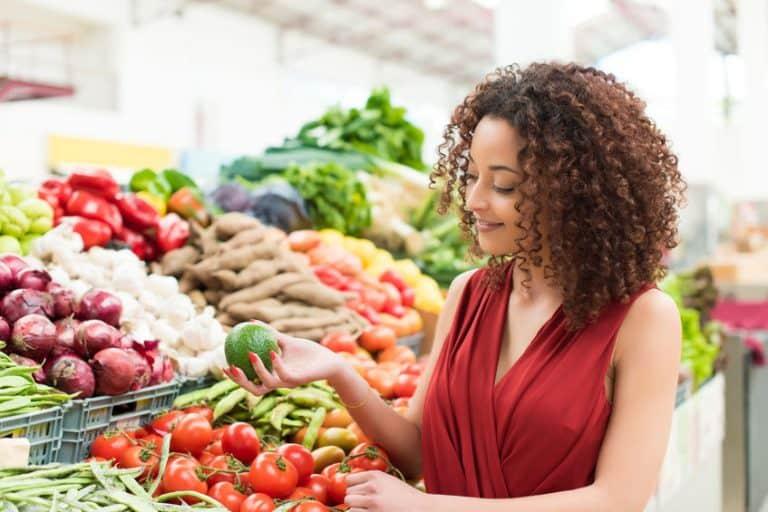 girl choosing vegetables