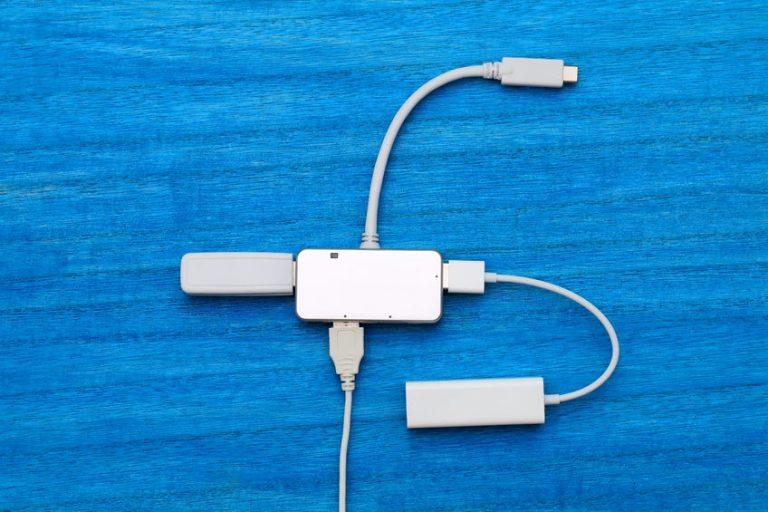 USB hub connected