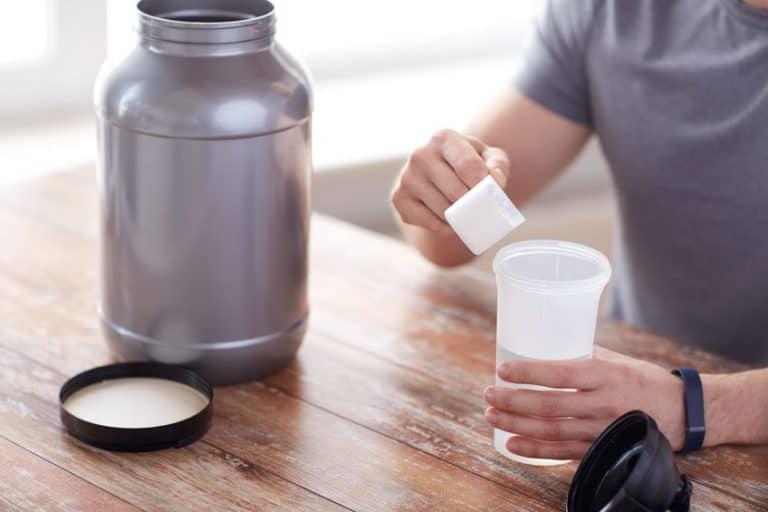 man making a shake