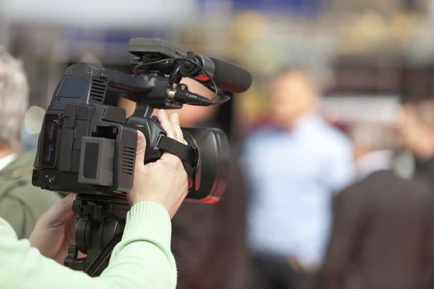 overing an event with a video camera
