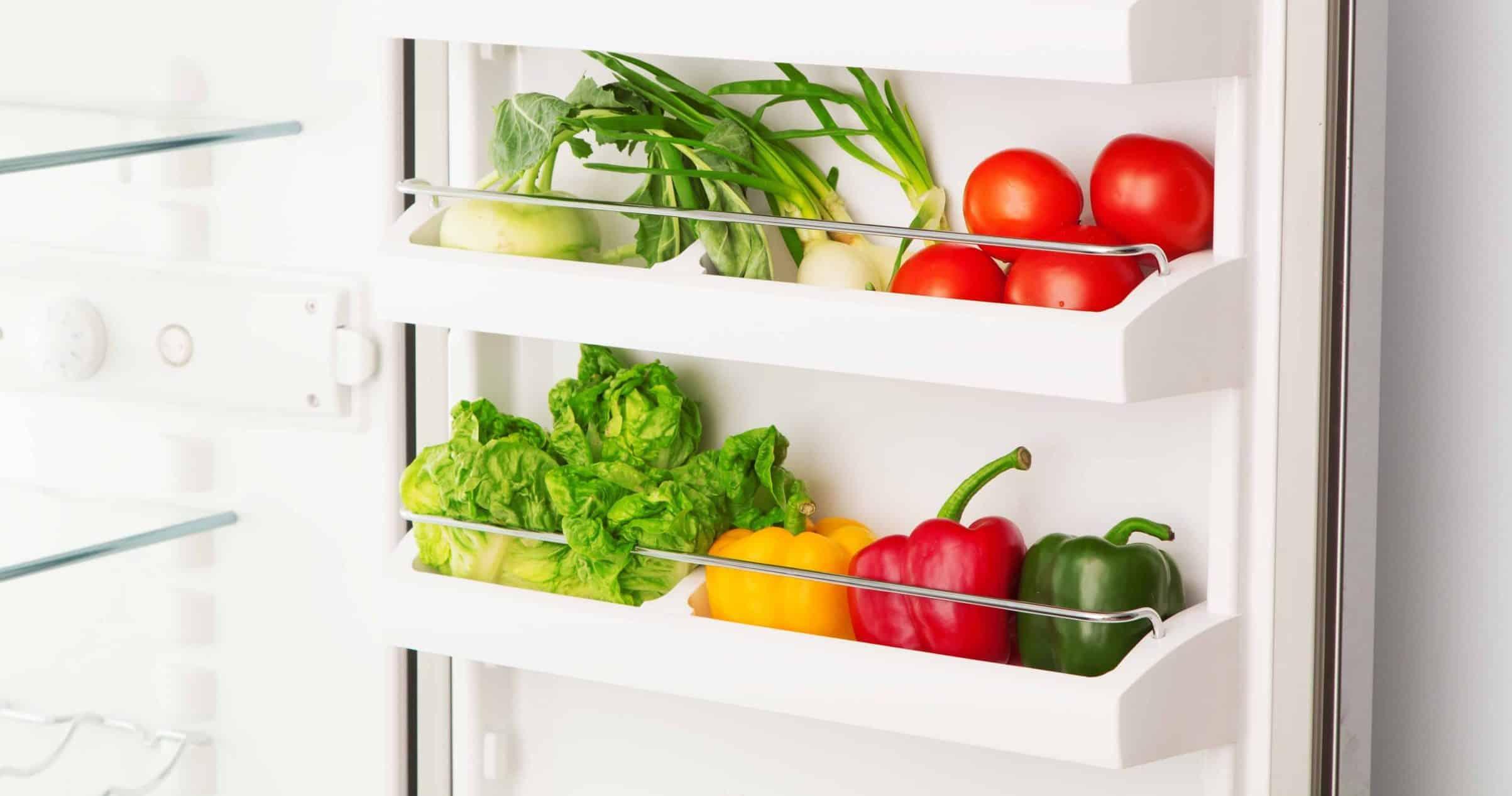 groenten in een koelkast