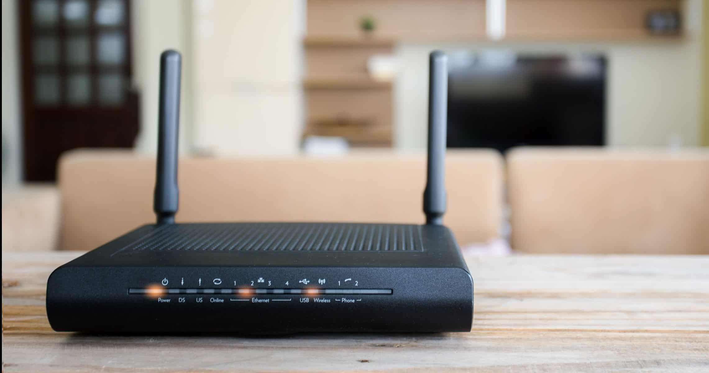 router in een kamer