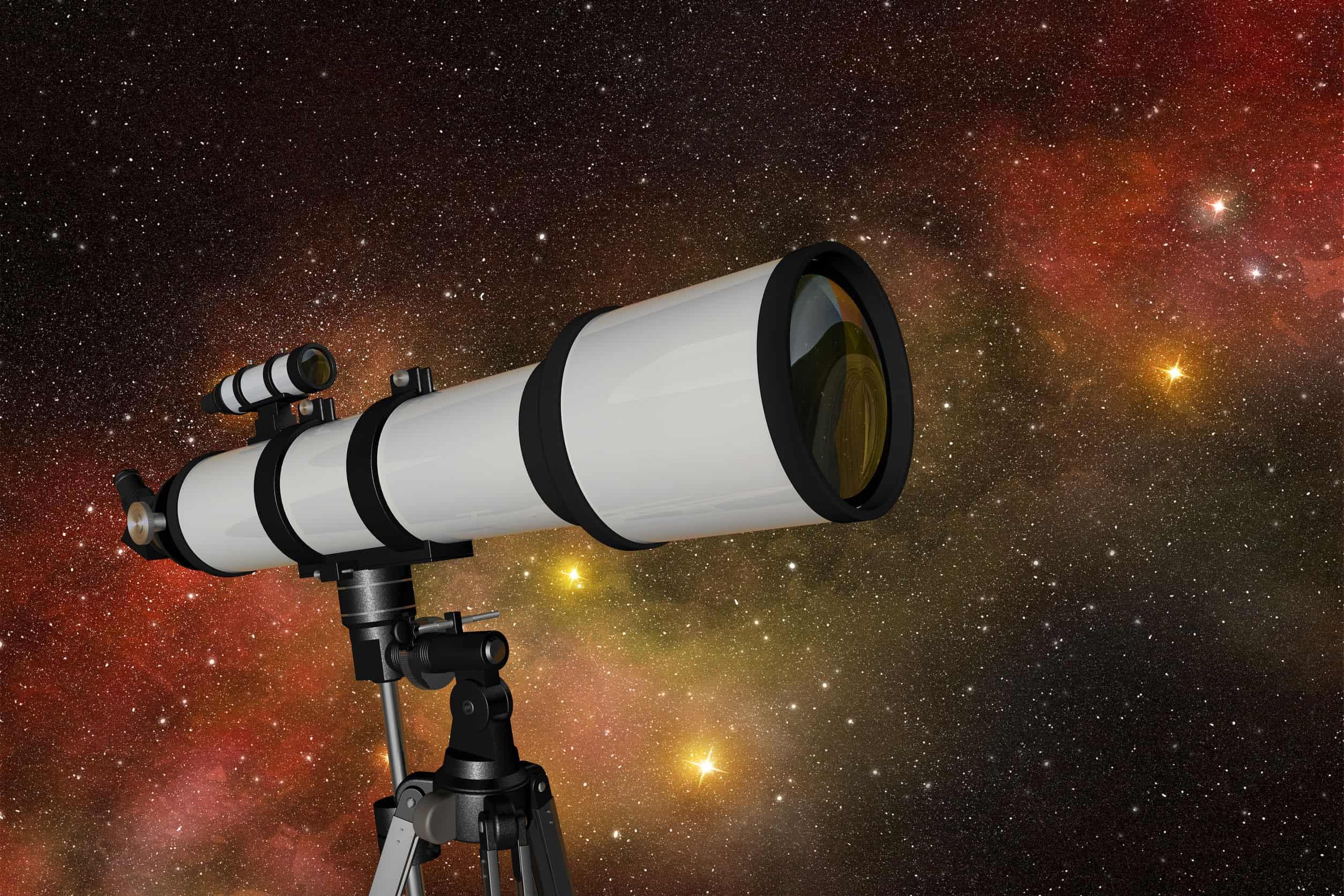 telescoop in sterrennacht