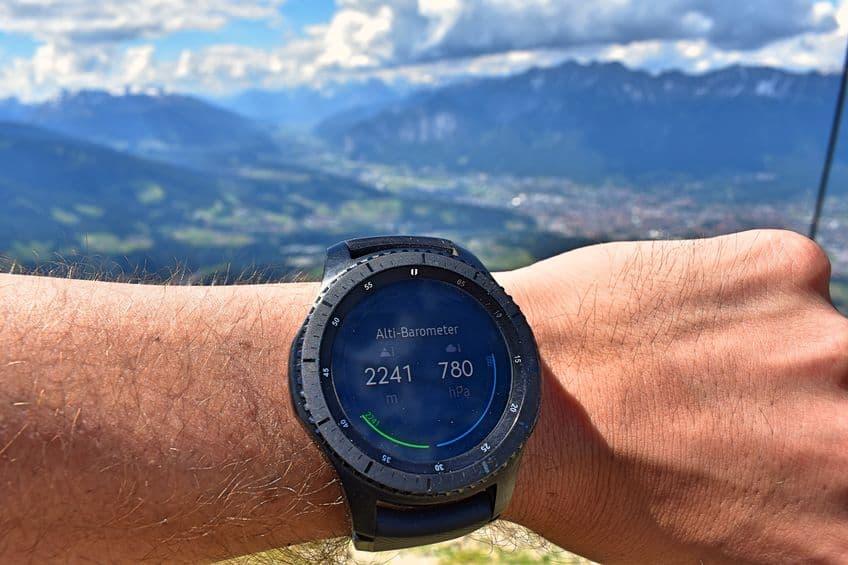 hoogte met smartwatch