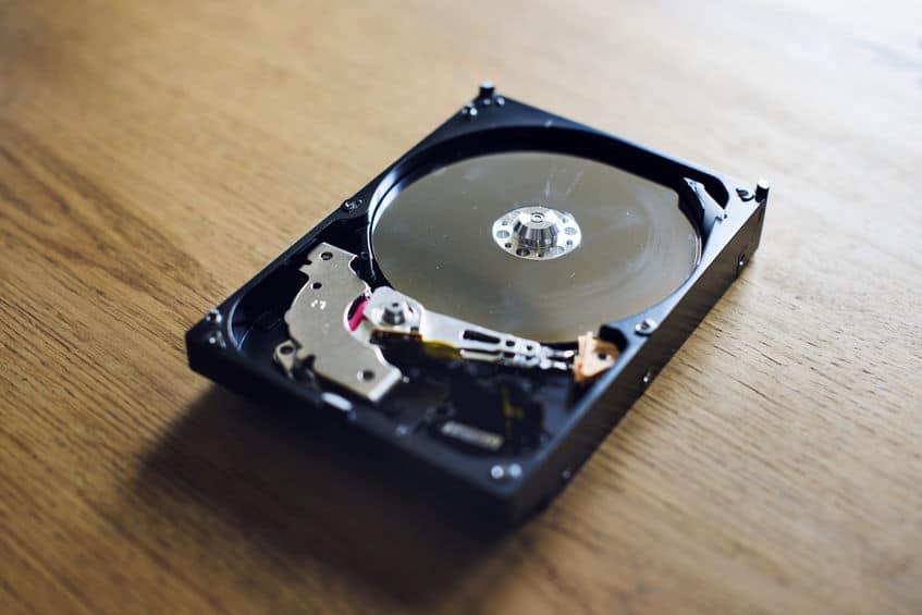 Back-up van archiefgegevens op harde schijf