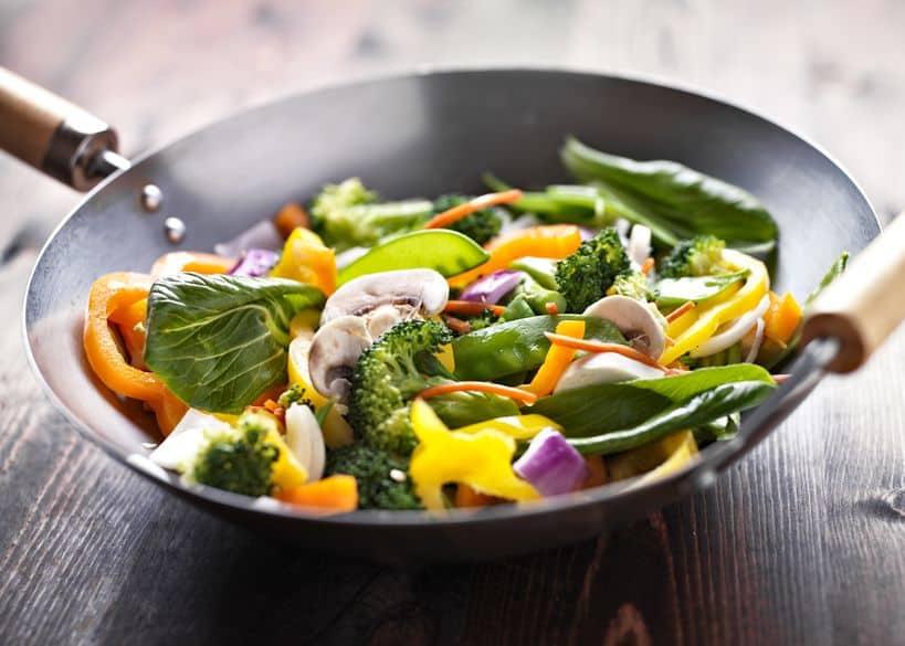 vegetarische wok roerbak