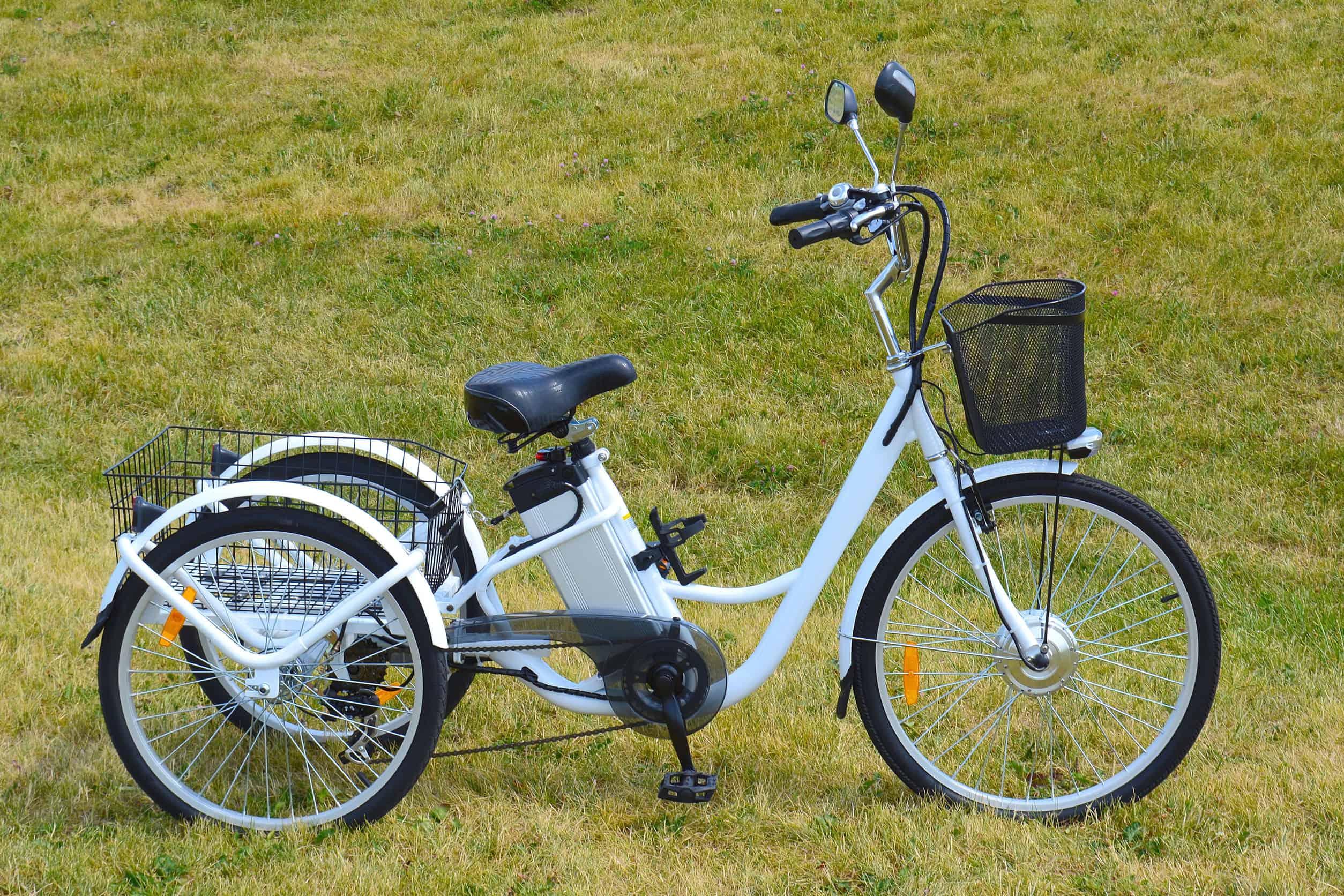 elektrische fiets in het open veld