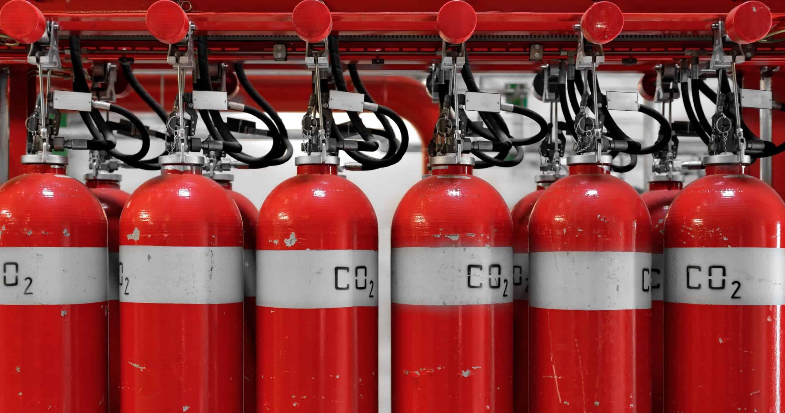 brandblussers opgesteld
