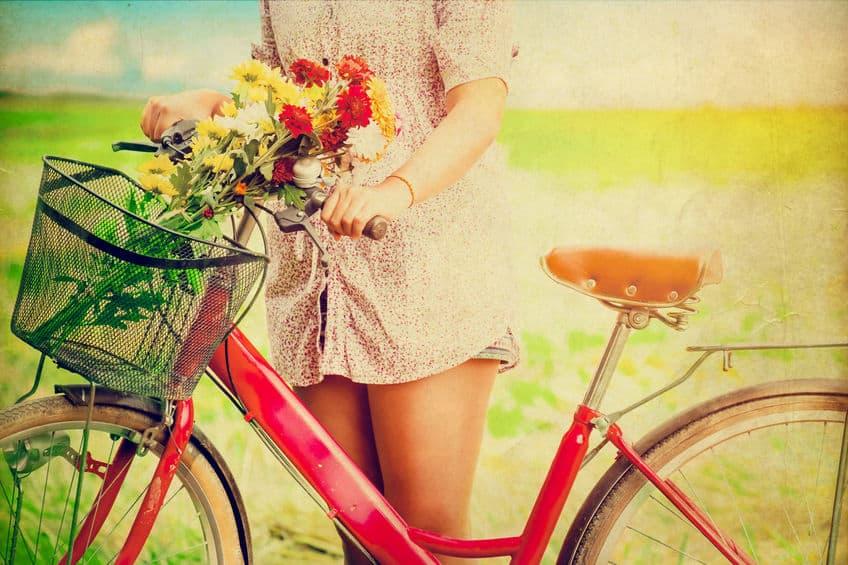 vrouw in het voorjaar