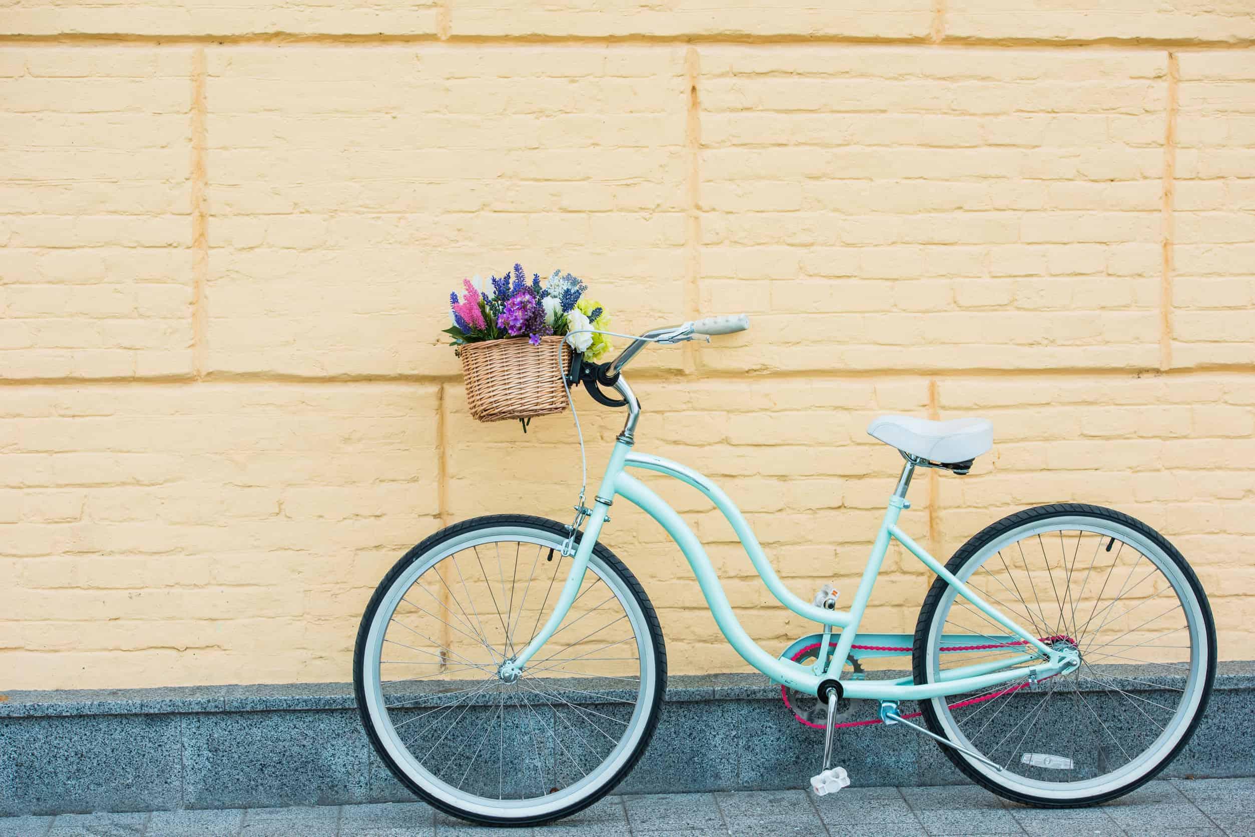 fiets met mand