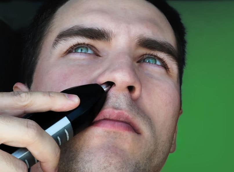 blauwe ogen jongen haren verwijderen