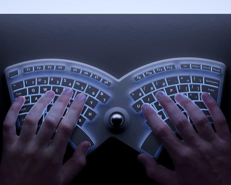 met behulp van toetsenbord