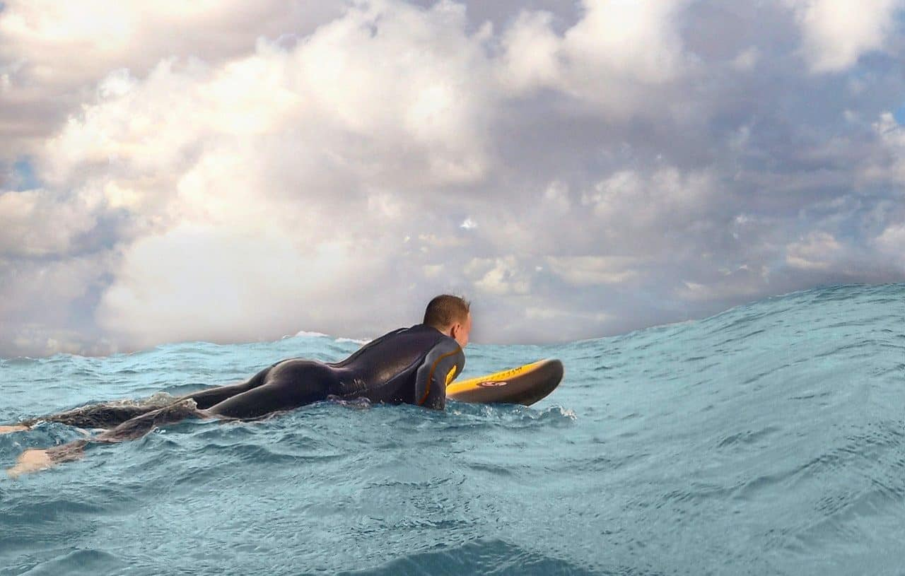 man surfen