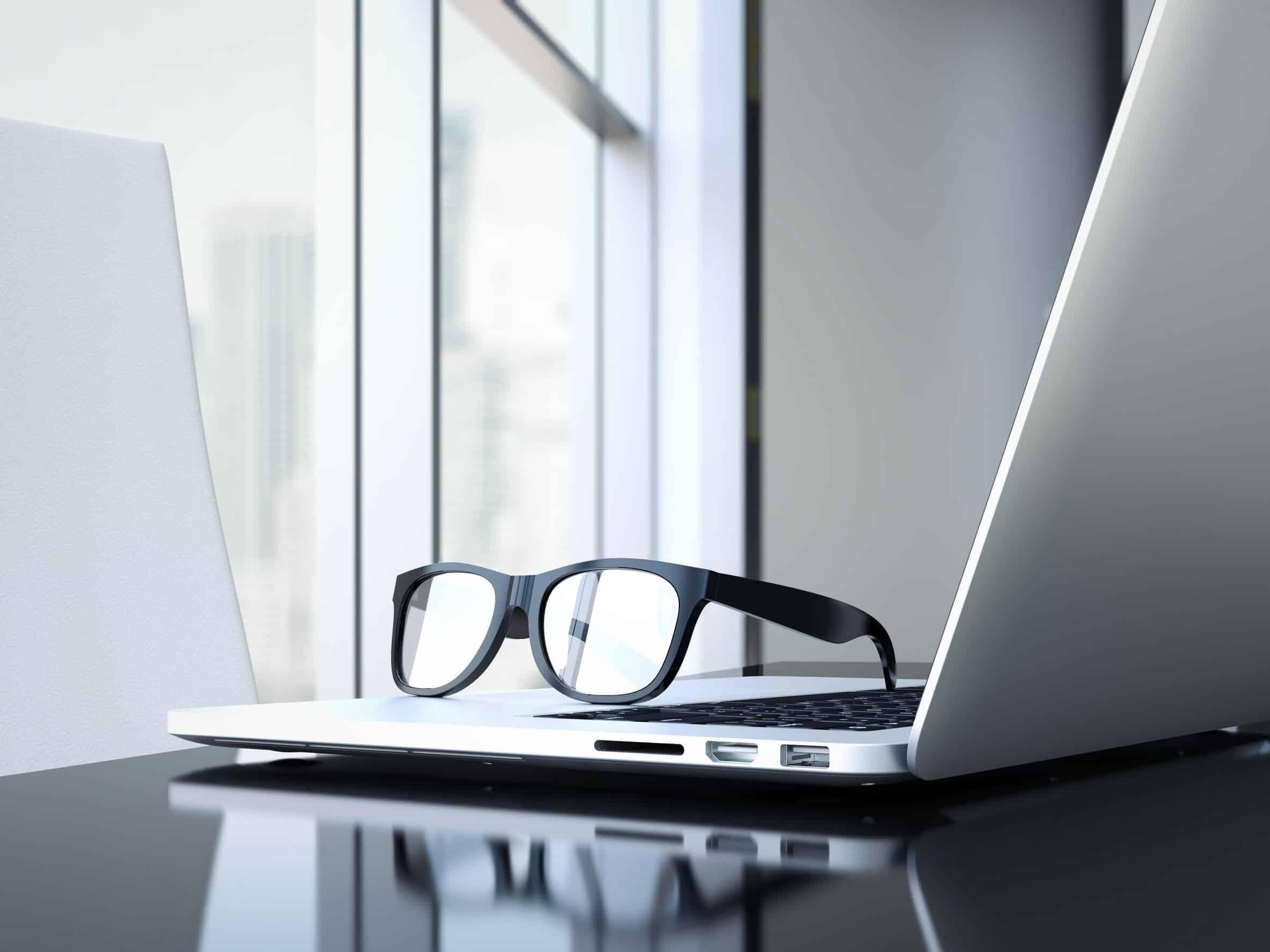 bril op de computer