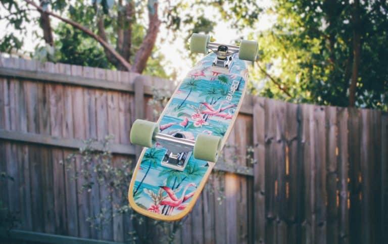 skateboard in de lucht