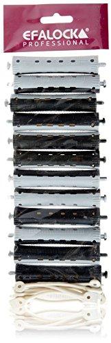 Efalock Professional koudgolfwikkelaar 2-kleurig, 16 mm, grijs/zwart, 1 stuks (1 x 12 stuks)