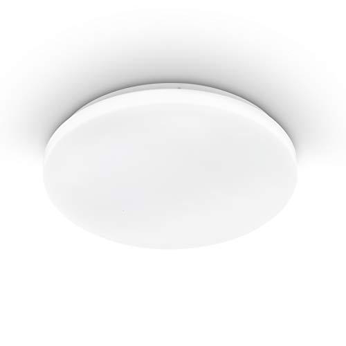 EGLO plafondlamp POGLIOLA, Ø 31 cm, led plafondarmatuur, 1 lichtbron woonkamerlamp van staal en kunststof, lamp wit, kinderkamerlamp, keukenlamp, bureaulamp, ganglamp plafond