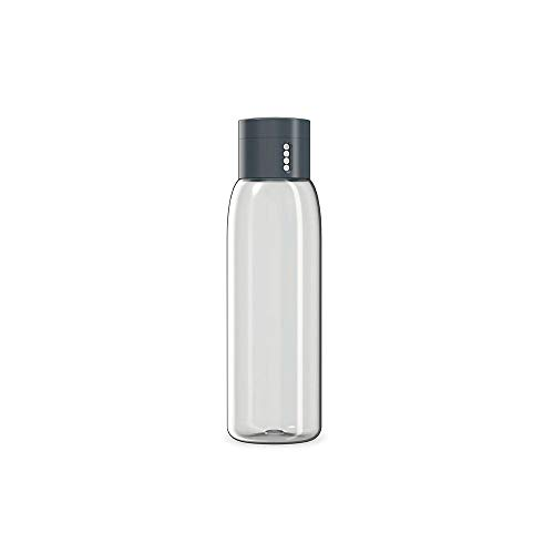 Joseph Joseph Dot Hydration-Tracking Water Fles, 600 ml Capaciteit, Grijs