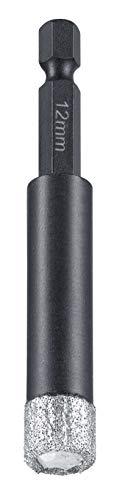kwb Diamant tegelgatboor voor boormachines, gatenzaag met E 6.3-opname, diamantboorkroon diameter 12 mm