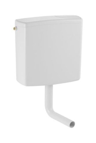 Geberit Opbouw spoelbak AP140 voor 2-hoeveelheden spoelbak, toiletspoeling diep hangend, met flexibele wateraansluiting, geluidsarm, wit, art.nr. 140300111