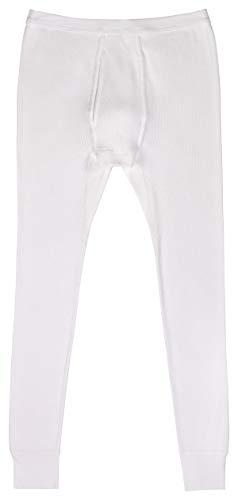 AMMANN onderbroek lang met gulp dubbele ripp in wit maten 5-8