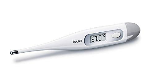 Beurer Ft-09 Digitale Lichaamsthermometer, Waterdicht, LCD-Display, Met Akoestisch Signaal, Zonder Kwik, Zonder Glas, Wit