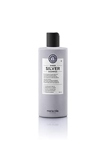 Maria Nila Care & Style Sheer Silver Shampoo   No Yellow Silver Shampoo voor een koel blond   intensieve haarverzorging anti-geelheid   sulfaat & parabenenvrij 350 ml