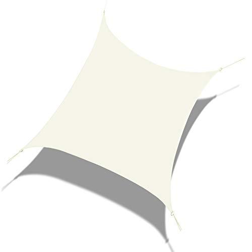Laxllent Zonnezeil 3x4M Schaduwzeil Rechthoek Schaduwdoek Crème 96.5% UV Blok Waterdicht Zonneschermen van PES voor Balkon Terras Tuin
