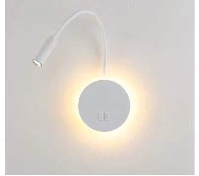 Budbuddy 3W + 8W LED leeslamp wandlamp met schakelaar moderne muur leeslamp bedlamp wandlamp binnen leeslamp draaibare wandverlichting hal slaapkamer hotels bedlampje 3000K