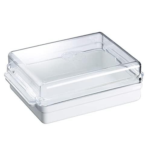 Westmark Botervloot voor in de koelkast, kunststof, Traditionell, wit/doorzichtig, 20882241